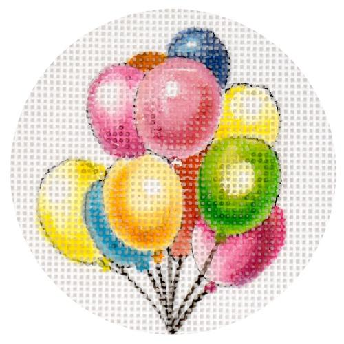 Balloons Ornament Painted Canvas Colors of Praise
