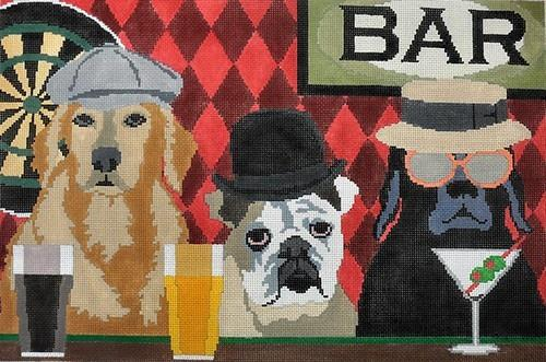 Bar Patrol Painted Canvas CBK Needlepoint Collections