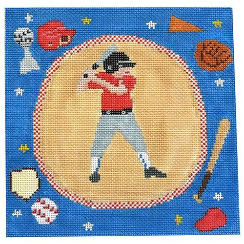 Baseball - Boys Painted Canvas Birds of a Feather