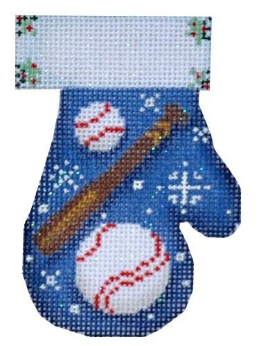 Baseball Mitten Painted Canvas Associated Talents