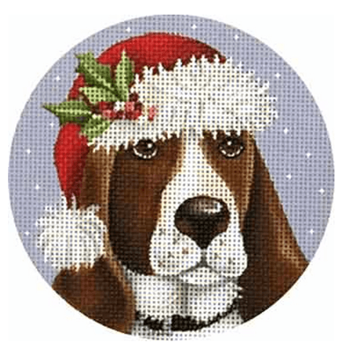 Basset Hound Ornament Painted Canvas Mary Lake Thompson