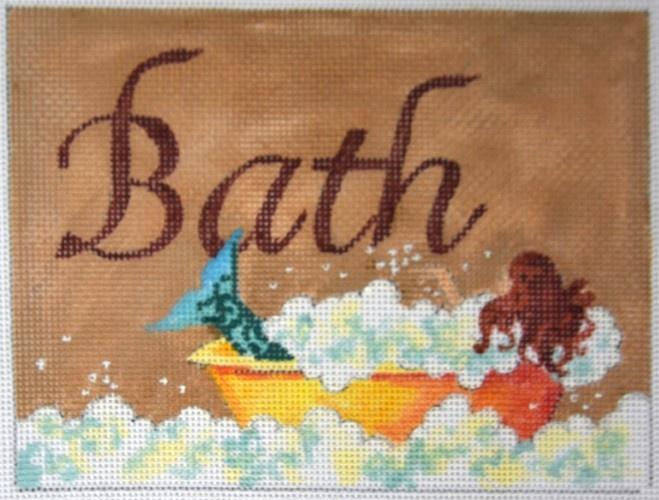 Bath with Mermaid Painted Canvas Colors of Praise
