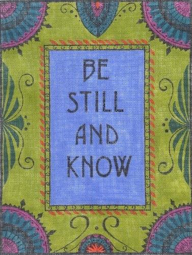 Be Still and Know Painted Canvas Zecca