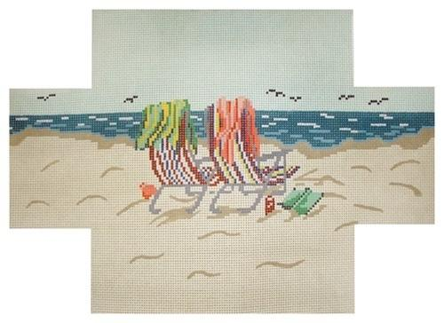 Beach Chair Brick Cover Painted Canvas Needle Crossings
