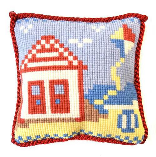 Beach Hut Needlepoint Kit Kits Elizabeth Bradley Design