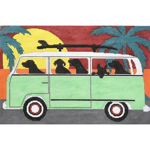Beach Trip Painted Canvas CBK Needlepoint Collections