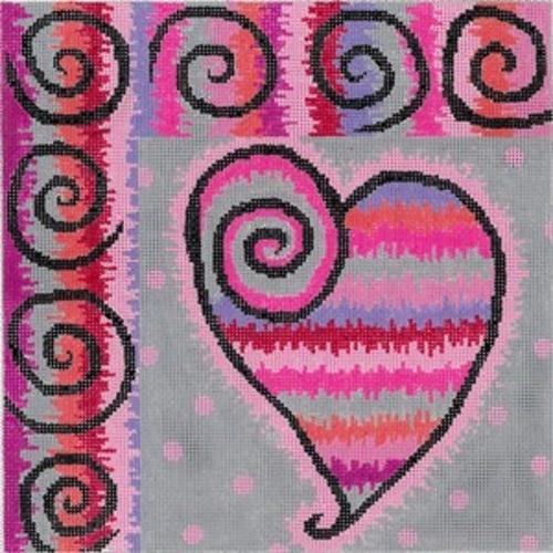 Beating Heart Painted Canvas Fleur de Paris