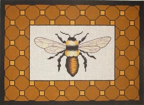 Bee with Border Painted Canvas Vallerie Needlepoint Gallery