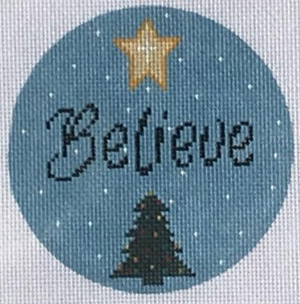Believe Ornament Painted Canvas Danji Designs