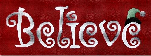 Believe Painted Canvas CBK Needlepoint Collections