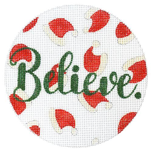 Believe - Santa Hats Painted Canvas A Poore Girl Paints