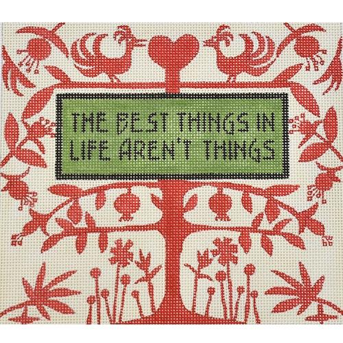 Best Things Painted Canvas Zecca