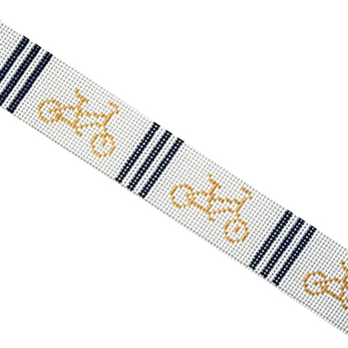 Bicycle Belt with Navy Stripes Painted Canvas The Plum Stitchery