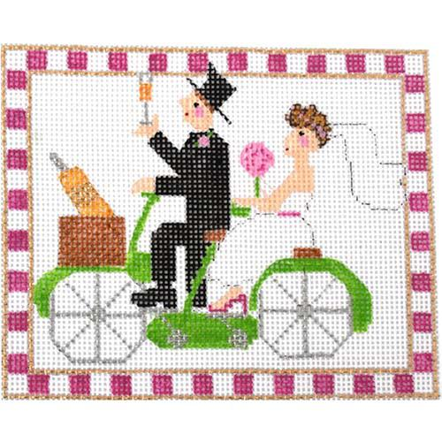 Bicycle Built for Two Painted Canvas The Princess & Me