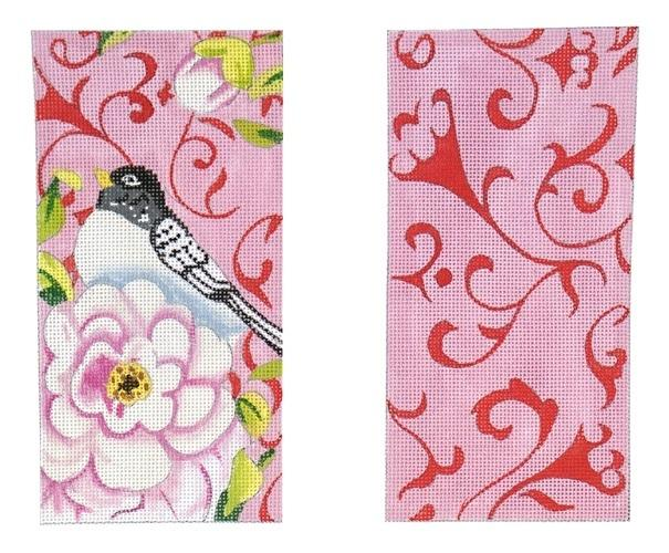 Bird / Rose Eyeglass Case Painted Canvas Colors of Praise