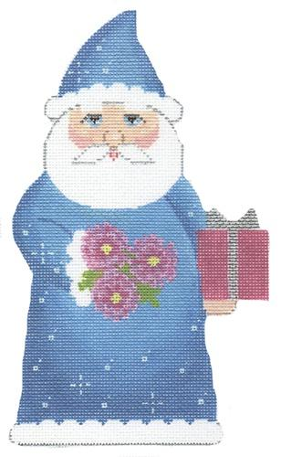 Birthstone Santa September Painted Canvas Labors of Love Needlepoint