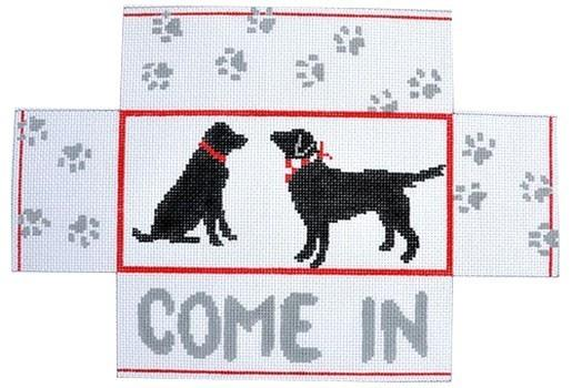 Black Lab Brickcover Painted Canvas CBK Needlepoint Collections