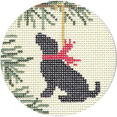 Black Lab Painted Canvas CBK Needlepoint Collections
