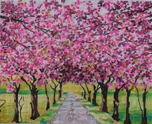 Blooming Tree Alley Painted Canvas Colors of Praise