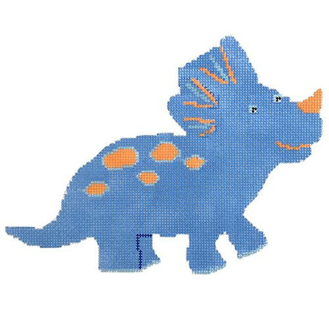 Blue Ceratops Dinosaur Painted Canvas A Stitch in Time