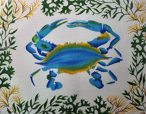 Blue Crab Painted Canvas Kate Dickerson Needlepoint Collections