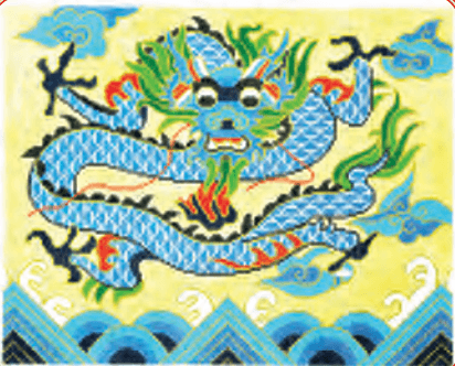 Blue Dragon Painted Canvas Lee's Needle Art Inc.