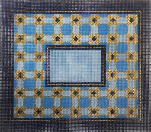 Blue Geometric II Tallis Painted Canvas Alice Peterson