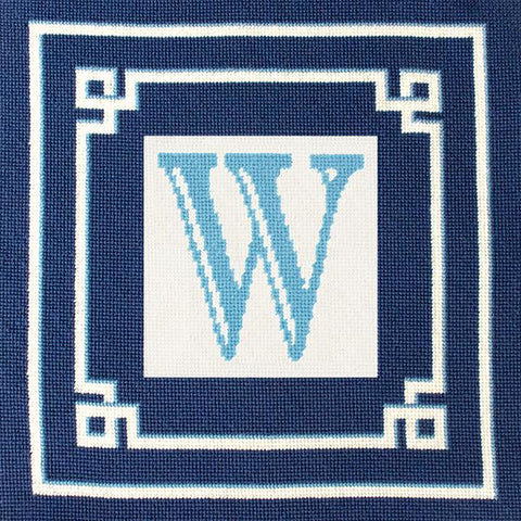 Blue Greek Key Pillow Kit Kits Needlepoint To Go
