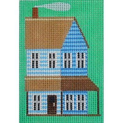 Blue Prairie House Key Fob Painted Canvas Kirk & Bradley