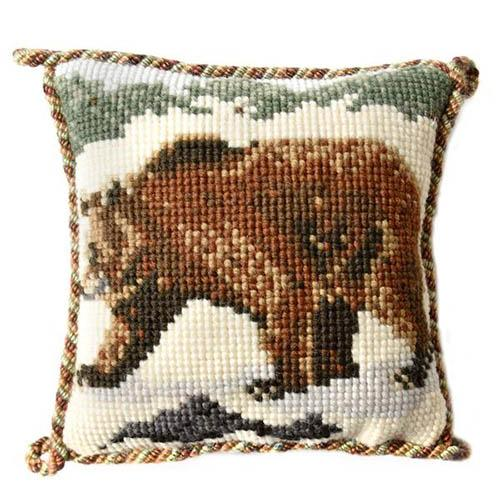 Brown Bear Needlepoint Kit Kits Elizabeth Bradley Design