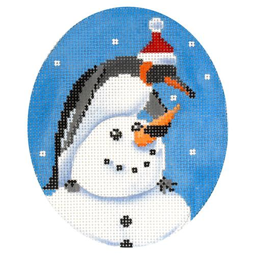 Building a Snowman Painted Canvas Scott Church Creative