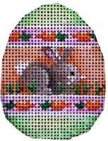 Bunny / Carrot Stripes Mini Egg Painted Canvas Associated Talents