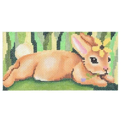 Bunny Eyeglass Case Painted Canvas Gayla Elliott