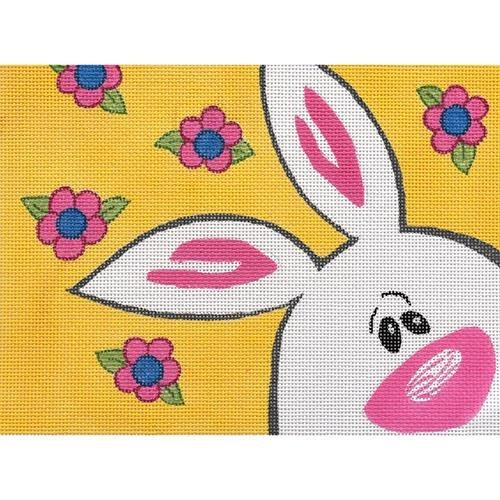 Bunny on Yellow (CLD) Painted Canvas Chris Lewis Distributing
