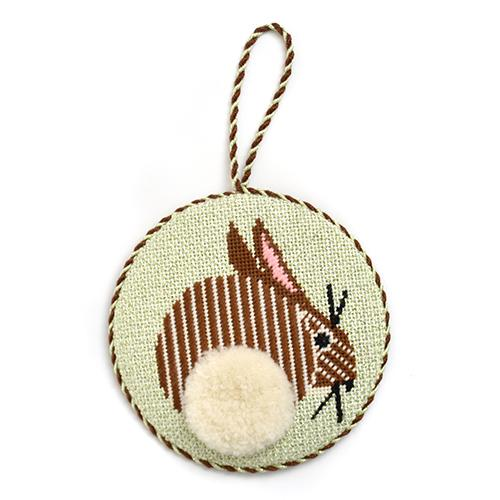 Bunny Ornament Painted Canvas Charley Harper