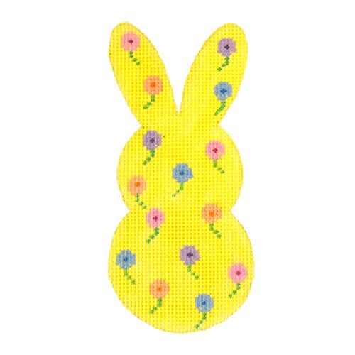 Bunny Tails - Yellow with Stitch Guide Painted Canvas Danji Designs
