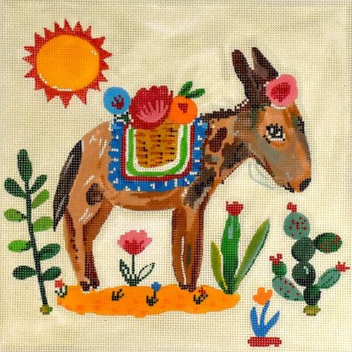 Burro Painted Canvas Kate Dickerson Needlepoint Collections
