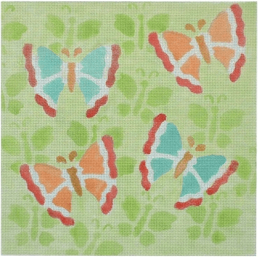 Butterflies on Butterflies Painted Canvas CBK Needlepoint Collections
