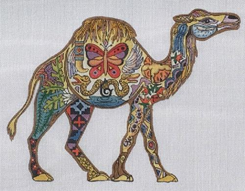 Camel Painted Canvas Danji Designs