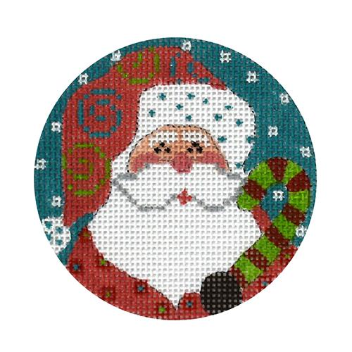 Candy Cane Santa Painted Canvas Danji Designs