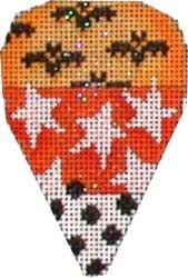 Candy Corn - Star / Bat Painted Canvas Associated Talents