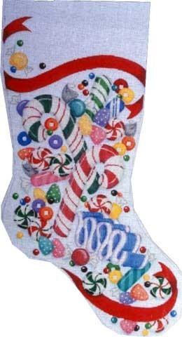 Candy Stocking / Red Painted Canvas Associated Talents