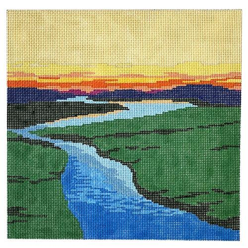 Cape Cod Marsh Painted Canvas Anne Fisher Needlepoint LLC