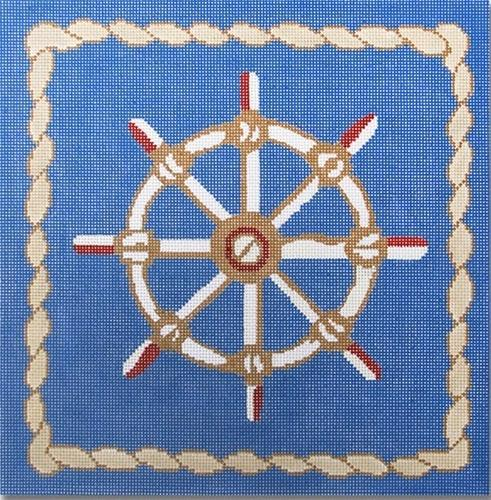 Captain's Wheel Painted Canvas CBK Needlepoint Collections