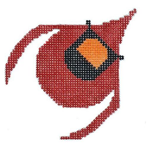 Cardinal Flying Ornament Painted Canvas Charley Harper