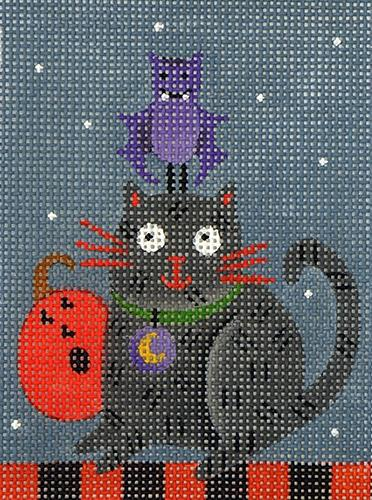 Cat and Bat Painted Canvas Melissa Shirley Designs