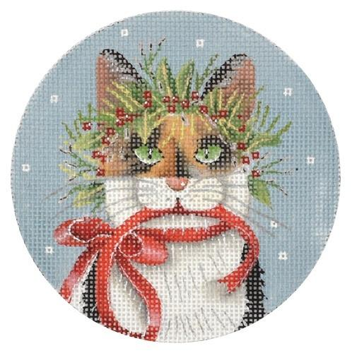 Cat Ornaments - Calico Painted Canvas Mary Lake Thompson