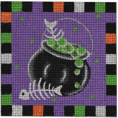 Cauldron Ornament Painted Canvas Pepperberry Designs