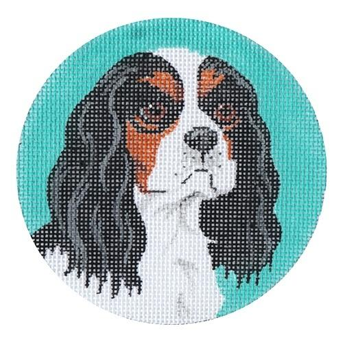 Cavalier King Charles Spaniel Ornament Painted Canvas Labors of Love Needlepoint