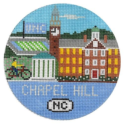 Chapel Hill Round Painted Canvas Doolittle Stitchery